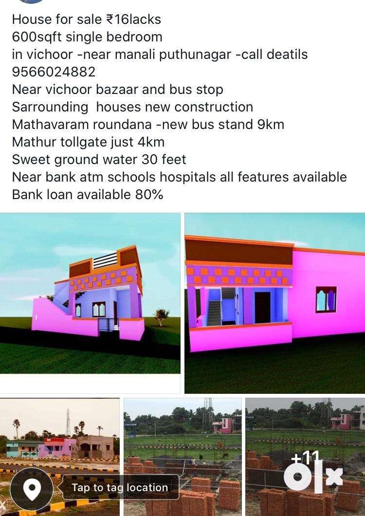 Budget House for sale in -vichoor bazeer near 0