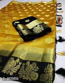 Beautiful Raw Silk Saree with Blouse piece