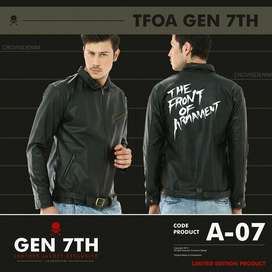 Jaket Kulit The Front Of Armament Crowsdenim A-7