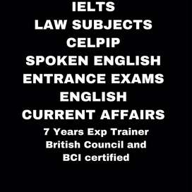IELTS LAW SUBJECTS SPOKEN ENGLISH ENTRANCE ENGLISH AND CURRENT AFFAIRS
