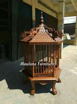 Kandang ayam Bangkok bekisar sangkar burung jati kokoh