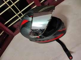 MT helmet with mirror visor (XL size)