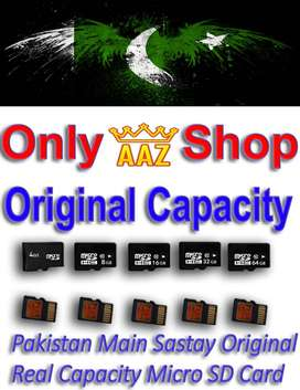4 , 8 ,16 , 32 , 64 GB Memory Card Original Capacity (Micro sd card)