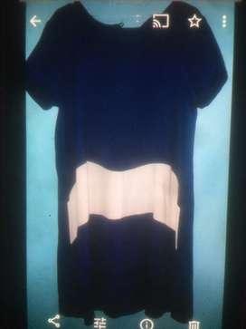 Baju hamil dress biru