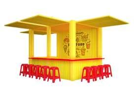 terima cicikan booth container cocok untuk segala usaha F&B.cuma DP