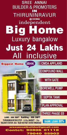 Cmda approved plot for sale in house villa just 26lakhs in bank loan