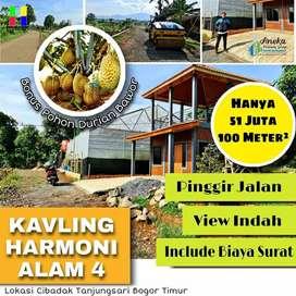 Ekslusif tanah murah di bogor dekat kantor kelurahan view pegunungan