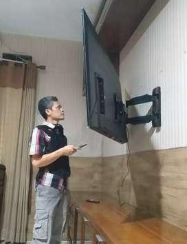 jual bracket swivel utk gantungan tv led lcd buat penyangga di dinding