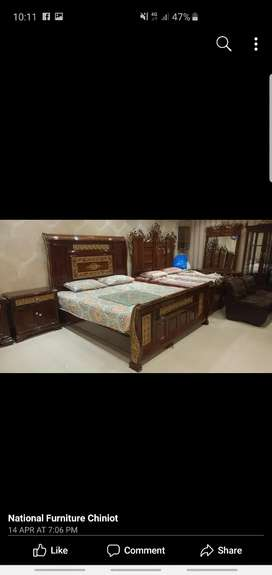 Bed +side table+ dressing table