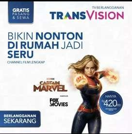 New promo Transvision HD Manado spesial cash/angsuran kartu kredit