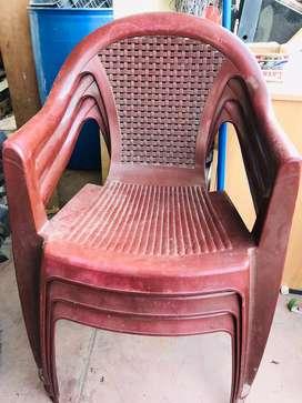 Nilkamal Chairs -4 chairs