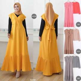Gamis Set Dress Plisk Vee BA1119