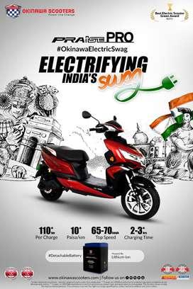 Okinawa Praise Pro-Electric scooter
