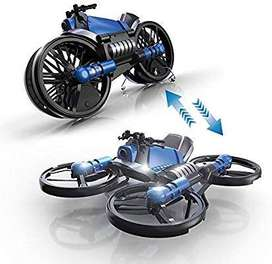 Online Wholesales 2 in 1 Folding Drone Motorcycle with RC Watch,Mullue