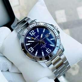 Jam tangan Casio mtp-vd1 silver blue original