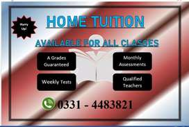 Home Tuition Available For All Classes.