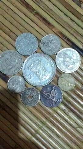 Koin kuno dalam, luar negeri 9 buah
