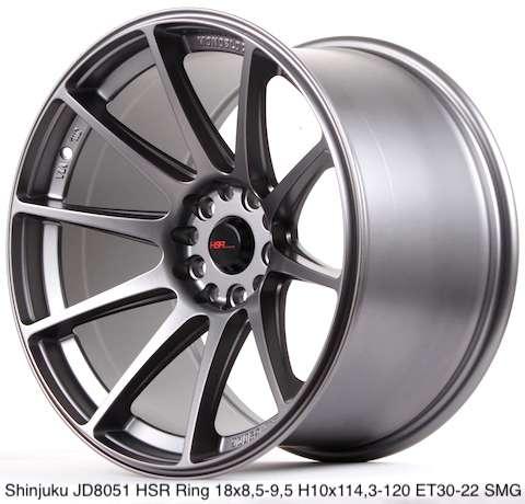 Harga velg SHINJUKU JD8051 HSR R18X95/105 H10X114,3-120 ET30/22 SMG 0