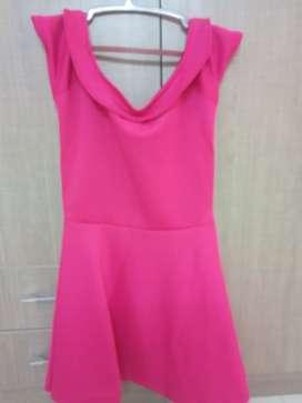 Pink color mini dress