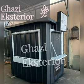 CONTAINER USAHA KULINER /CONTAINER KEDAI/BOOTH SEMI CONTAINER /