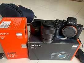 Sony A7Rii + lensa Sony F 1.8 fe 55mm zeiss