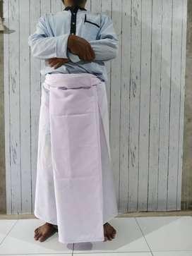 Sarung Sholat Putih Polos / Sarung Dewasa / Kain Bsy Lembut