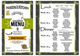 """Haseena's Kitchen """" Delicious Food Enriched With Mother's Love""""."""