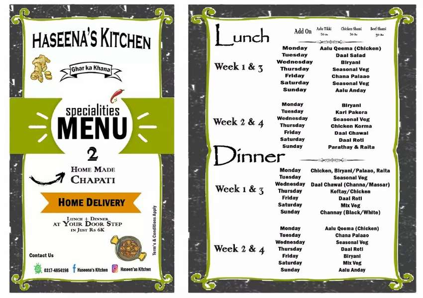 """Haseena's Kitchen """" Delicious Food Enriched With Mother's Love"""". 0"""