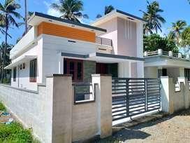 thrissur mundoor 4 cent 2 bhk new villa with inside staircase