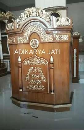 Readi mimbar podium masjid musholla  adikarya jati..