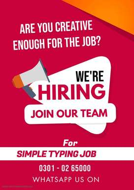Earn cash at home on daily base by Simple typing online job
