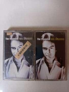 kaset ori baru/segel paket double album neil diamond the essential