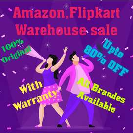 Amazon Flipkart Warehouse sale, 100% original with bill with warranty