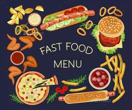 Fast food cook with paratha special