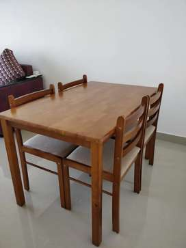 Brand new 4 seater dining table with chairs for sale