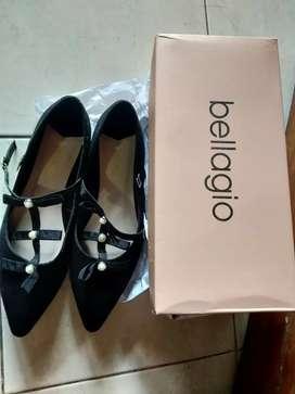 Sepatu bellagio hitam new 38