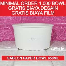 Sablon Paper Bowl 650ml