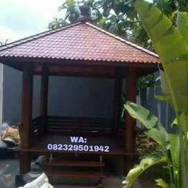 Gasebo bahan kayu kelapa