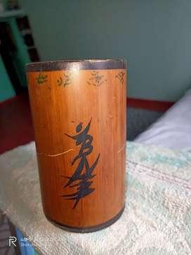 Wooden art pot