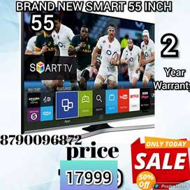 55 INCH BRAND NEW SMART 4K LED TV WITH 2 YEAR WARRANTY