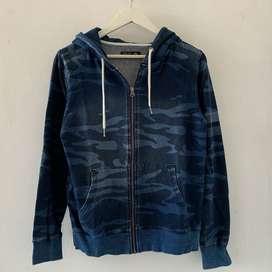 Thrift Hoodie Biru - MURAH - Zipper Hoodie