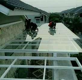 Canopy kaca kuat dan aman