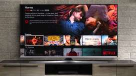 new 4k 55'' smart android led tv voice connected #