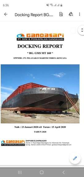 Dijual Tug Boat dan Barge 300 feet paska docking besar