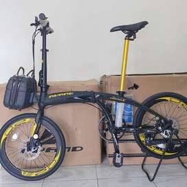 Sepeda lipat avand chester X black gold new!! 10 speed
