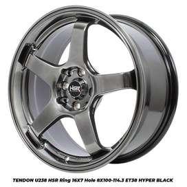 Pelek Mobil Ring 16 TENDON hsr warna Hyper Black