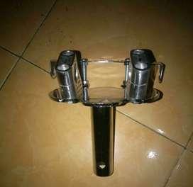 Stang fatbar protaper & raiser & handgrip dan Dudukan stg Honda Matic