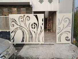 design pagar mewah pagar plat motif