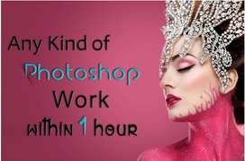 I will do any kind of photoshop editing within 1 hour