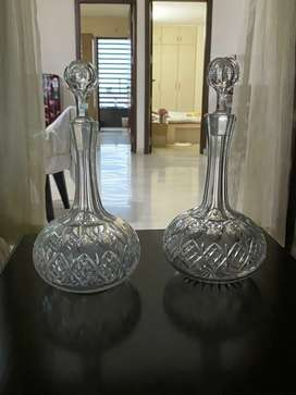 Old crystal decanters
